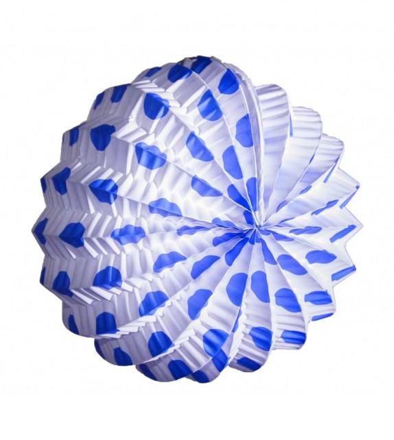 Farolillo Blanco Lunar Azul